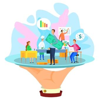 Équipe de développeurs présente graph growth growth startup