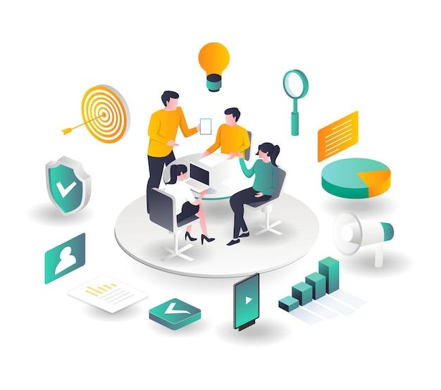 L'équipe discute de la stratégie de marketing numérique