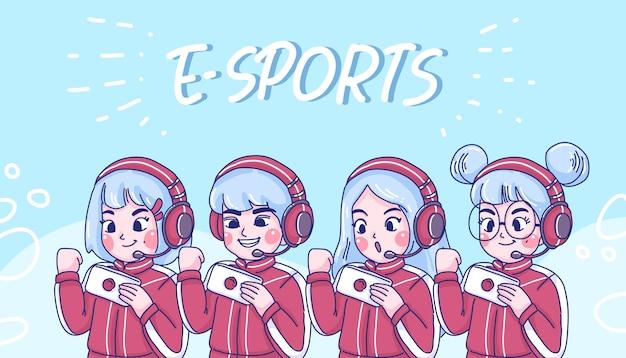 Équipe e-sport.