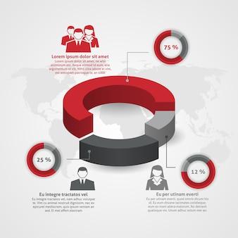 Équipe de l'entreprise composition infographique