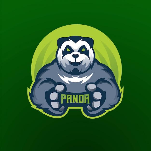 Équipe esport logo panda athletic club