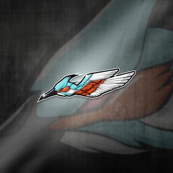 L'équipe d'esports mascot logo team expert wings squad