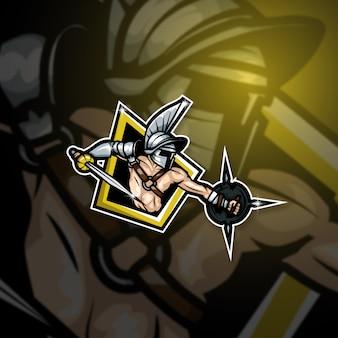 Équipe de gladiateurs avec logo mascotte esports