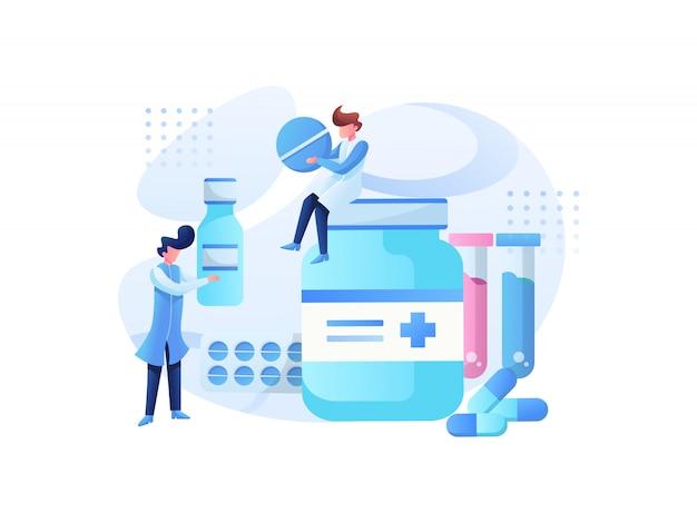 Équipe d'illustration médicale et consultation de santé