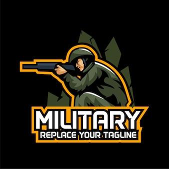 Équipe logo de l'armée de jeu esports