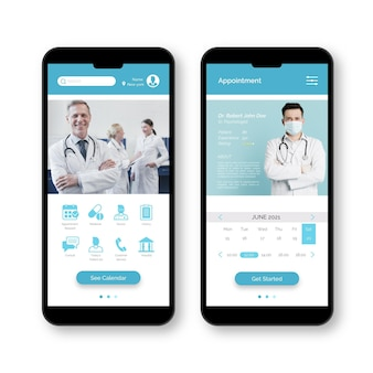 Équipe de médecins application de réservation médicale