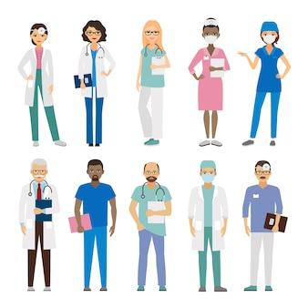 Équipe médicale de l'hôpital.