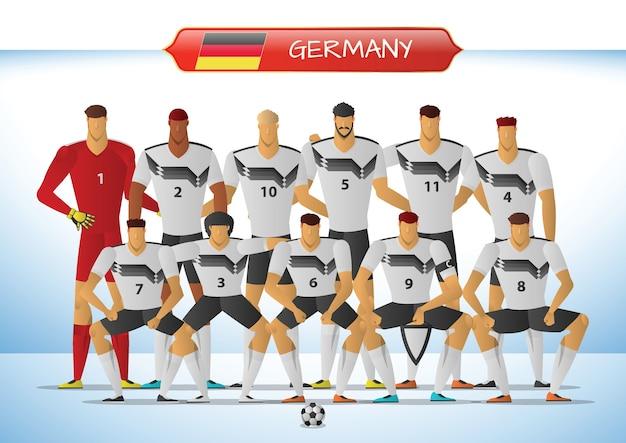 Equipe nationale de football de l'allemagne pour le tournoi international