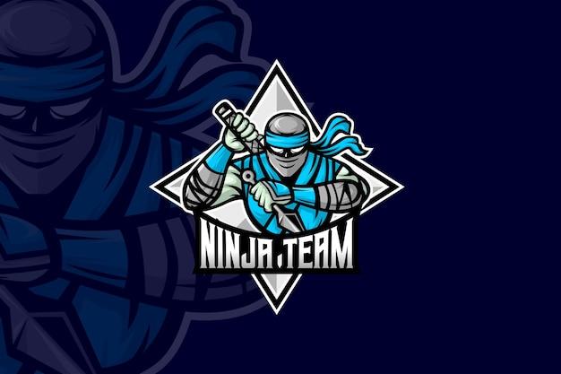 Équipe ninja - modèle de logo esport