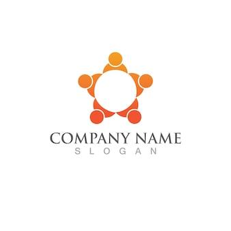 Équipe de personnes de la communauté, réseau et icône sociale