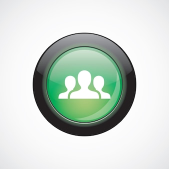 Équipe signe icône vert brillant bouton. bouton du site web de l'interface utilisateur