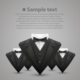 Equipe veste triangle et cravate. illustration vectorielle