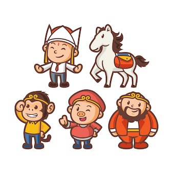 Équipe wukong mascot design