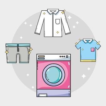 Équipement de blanchisserie pour nettoyer les vêtements et les travaux ménagers