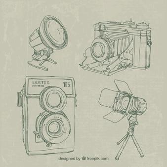Équipement de caméra sketchy