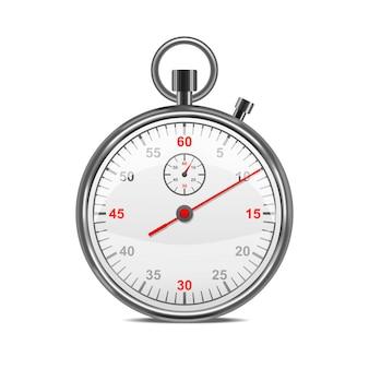Équipement de compétition de sport de symbole de chronomètre en métal classique réaliste pour la mesure