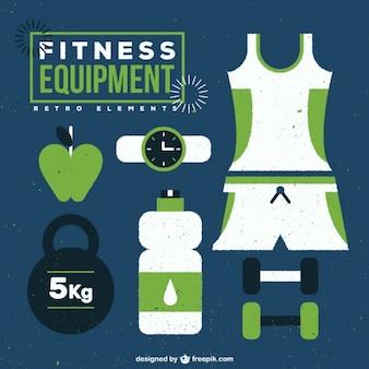 Équipement de conditionnement physique dans la couleur verte