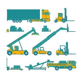 Équipement d'entrepôt et des machines dans l'ensemble