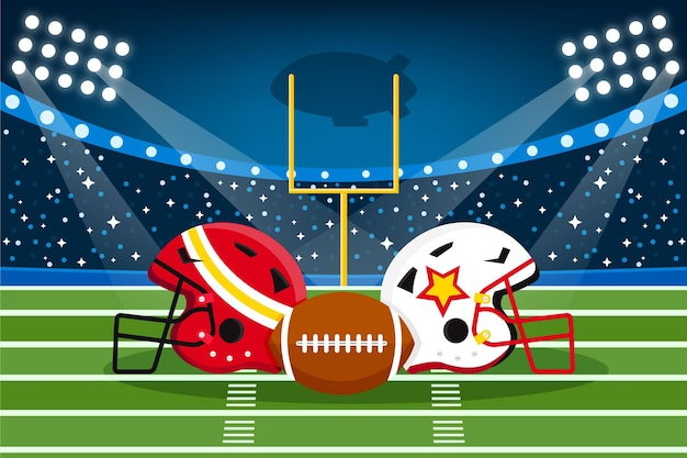 Équipement de football américain illustré