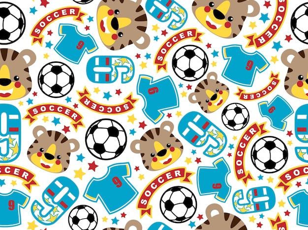 Équipement de football et tête de tigre