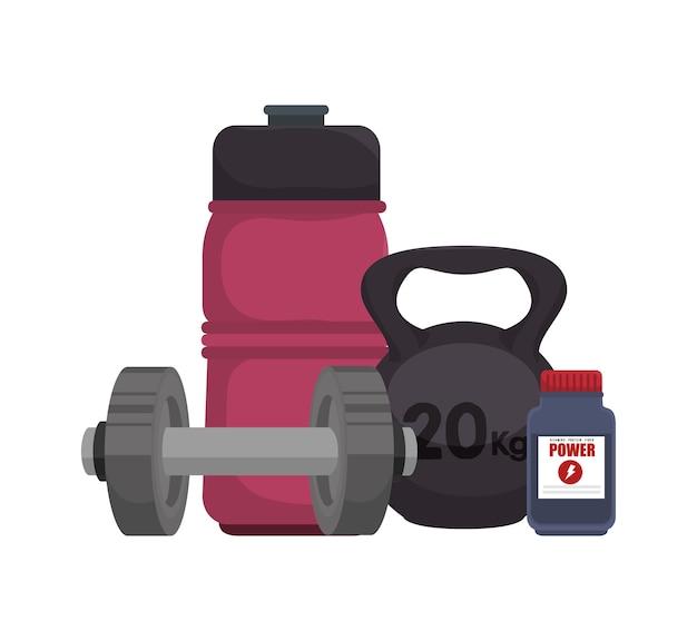 Équipement de levage de poids icône illustration de vecteur de conception