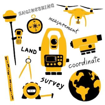 Équipement de mesure géodésique, technologie d'ingénierie.