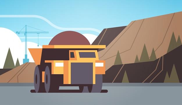 Équipement professionnel de camion-benne jaune lourd