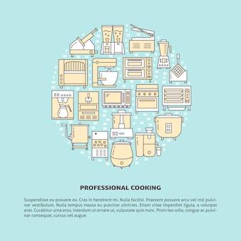 Équipement de restaurant autour du concept d'appareils ménagers