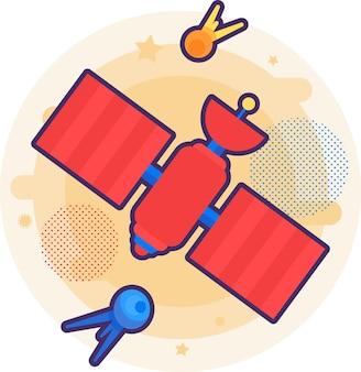 Équipement spatial satellite pour vecteur de communication