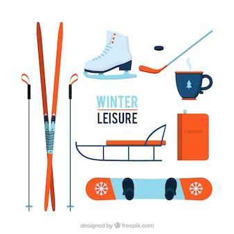 Équipement de sports d'hiver set