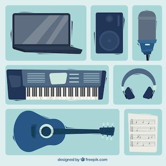Équipement de studio de musique