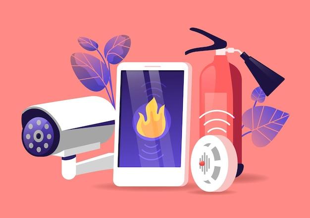 Équipement de système de sécurité incendie, technologies intelligentes pour la protection de la maison