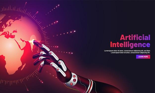 Ère d'intelligence artificielle ou concept de réalité virtuelle.