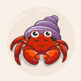 Ermite crabe cartoon