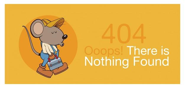Erreur 404 avec bannière drôle de souris