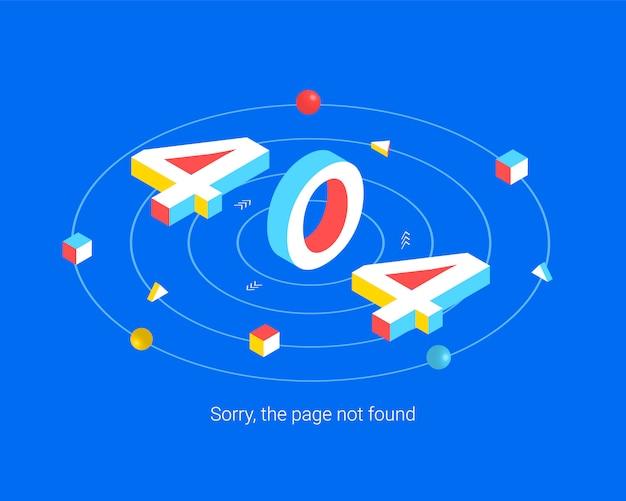 Erreur 404 concept de design de page.