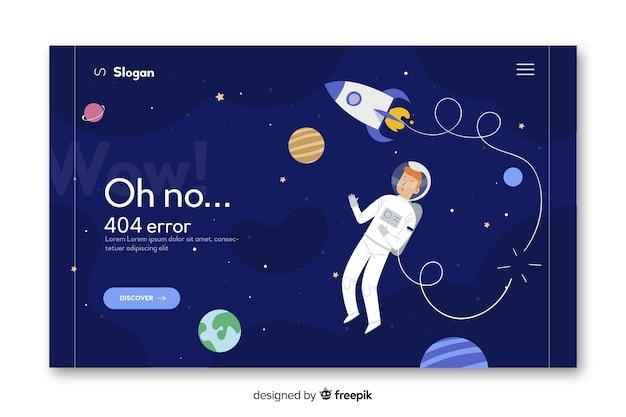 Erreur 404 concept pour la page de destination