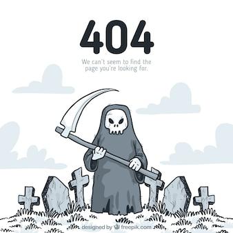 Erreur 404 dessiné à la main
