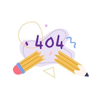 Erreur 404 dessinée à la main
