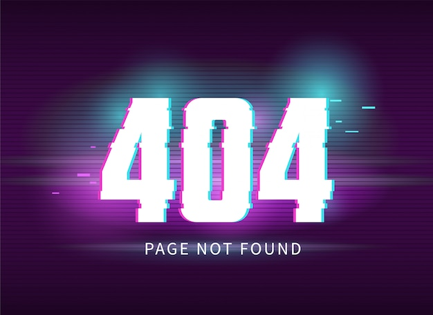 Erreur 404 avec effet glitch