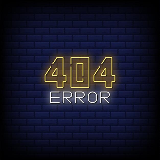 Erreur 404 enseigne au néon