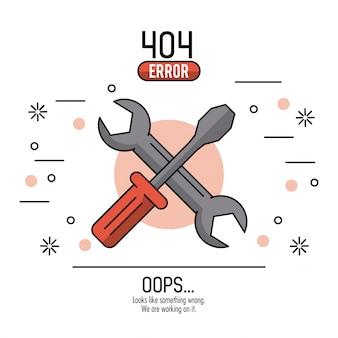 Erreur 404 infographie sur fond blanc