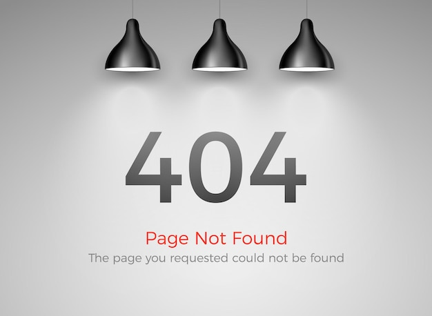 Erreur 404 - page non trouvée. échec du site web 404. oups, problème de conception d'avertissement internet.