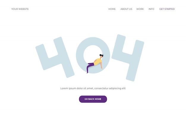 Erreur 404 pour la page de destination