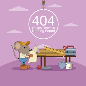 Erreur 404 Rien Trouvé Bannière Vecteur Premium