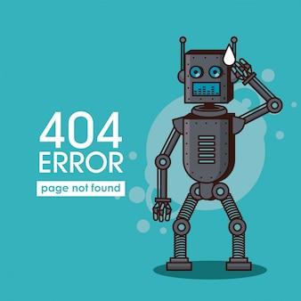 Erreur 404 style de robot