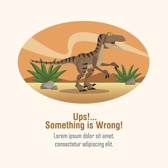 Erreur 404 thème de dinosaure