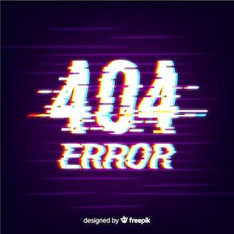 Erreur glitch 404 fond de page