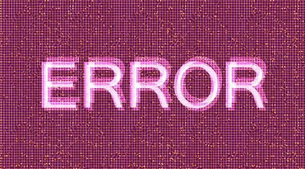 Erreur sécurité binaire et arrière-plan de protection