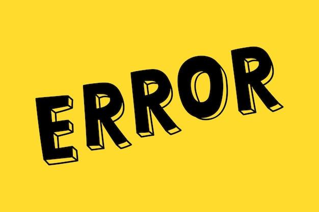 Erreur de typographie de police de caractères